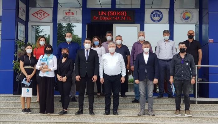 DEVA PARTİSİ İL YÖNETİMİNDEN BİGA TİCARET BORSASI'NA ZİYARET.