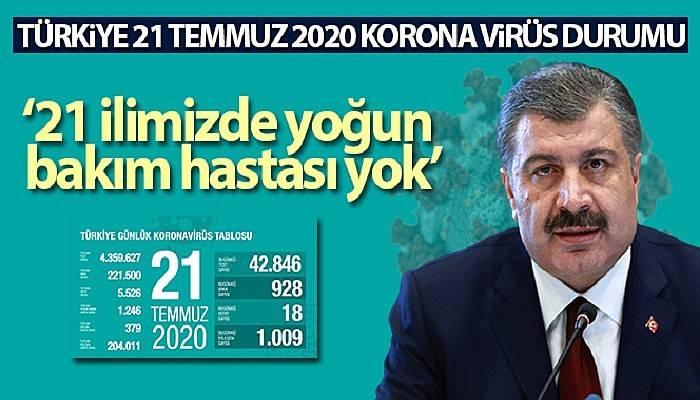 Sağlık Bakanı Fahrettin Koca koronavirüs vaka sayısını açıkladı
