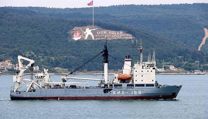 Rus askeri kurtarma gemisi, Çanakkale Boğazı'ndan geçti (VİDEO)