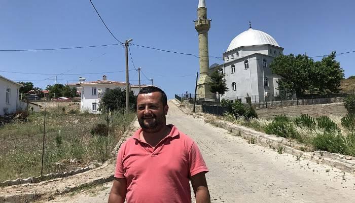 'Hatıra olsun' diye minareyi adaya taşıdılar (VİDEO)