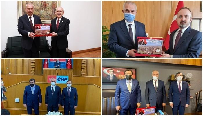 Kopça Ankara'da siyasilerle buluştu