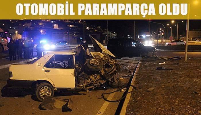 Çanakkale'de otomobil paramparça oldu!