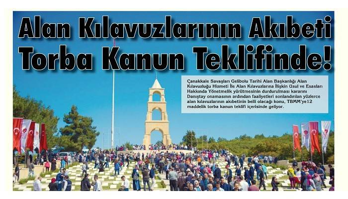 Alan Kılavuzlarının Akıbeti Torba Kanun Teklifinde!
