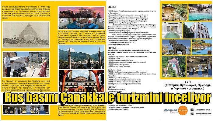 Rus basını Çanakkale turizmini inceliyor