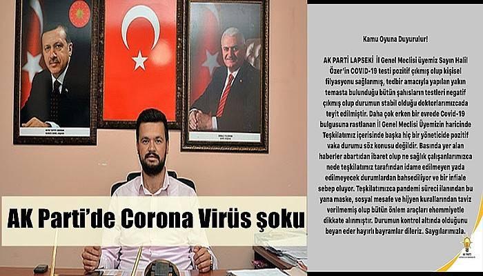ÖZER'DE CORONA VİRÜS ÇIKTI