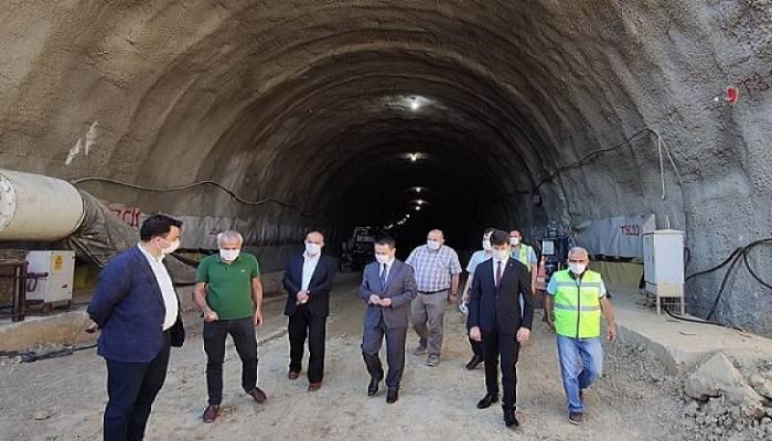 Gelibolu-Eceabat tünellerinde çalışmalar sürüyor