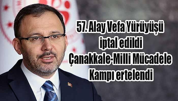 57. Alay Vefa Yürüyüşü iptal edildi!