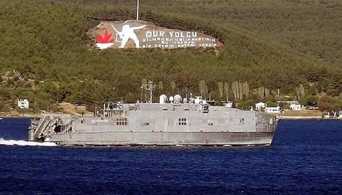 ABD hızlı transfer gemisi 'USNS Yuma', Çanakkale Boğazı'ndan geçti (VİDEO)