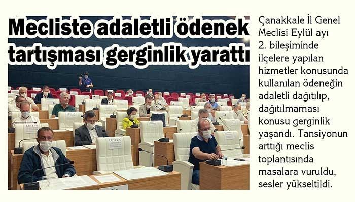 Mecliste adaletli ödenek tartışması gerginlik yarattı