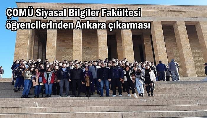 ÇOMÜ Siyasal Bilgiler Fakültesi öğrencilerinden Ankara çıkarması