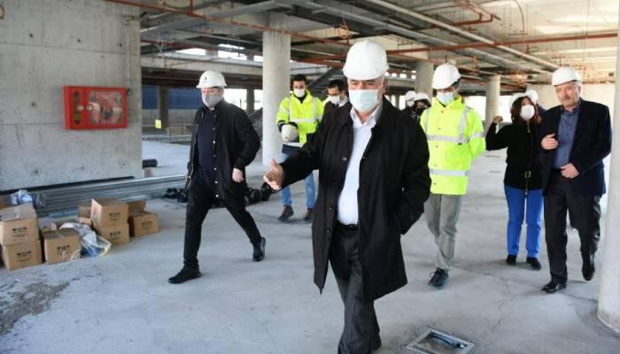 Başkan Gökhan teknik ekiple incelemelerde bulundu