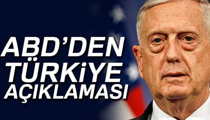 ABD Savunma Bakanı Mattis'den Türkiye açıklaması