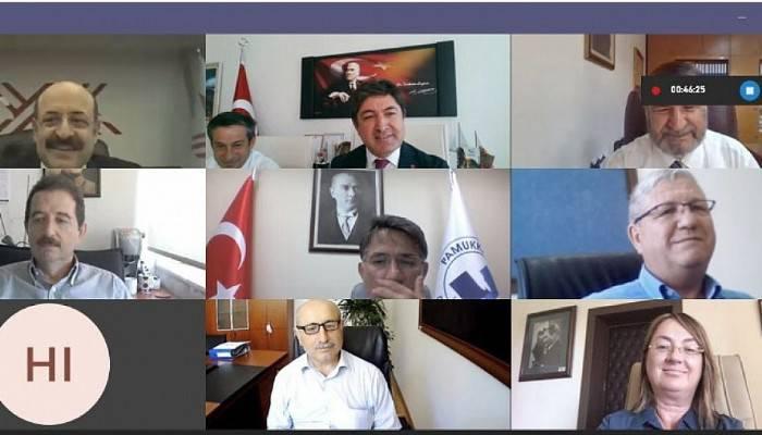 Dekanlar Konseyi 7. Genel Kurul Toplantısı Video Konferans Aracılığı İle Yapıldı
