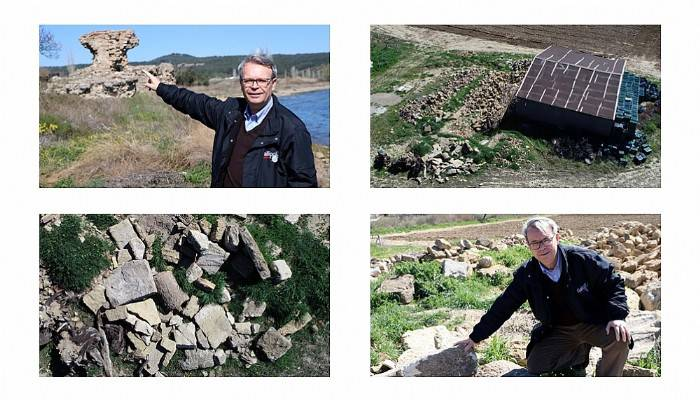 2 bin yıllık antik kenti soymaya kalkan defineciyi profesör yakaladı (VİDEO)