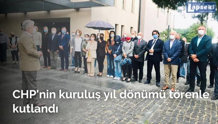 CHP'nin kuruluş yıl dönümü törenle kutlandı