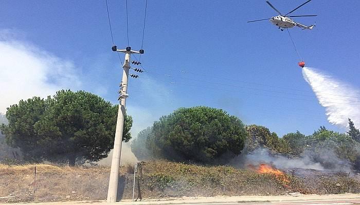 Çanakkale Bahriyeüçok caddesinde yangın! (VİDEO)
