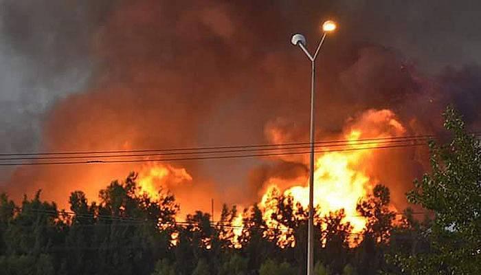 Çanakkale Açık Cezaevi'ndeki yangın korkuttu (VİDEO)