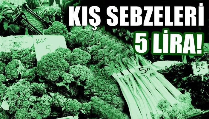 Pazarda kış sebzeleri 5 liradan satışta