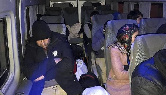 Çanakkale'de 31 kaçak göçmen yakalandı (VİDEO)
