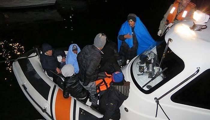 Ayvacık açıklarında 51 kaçak yakalandı