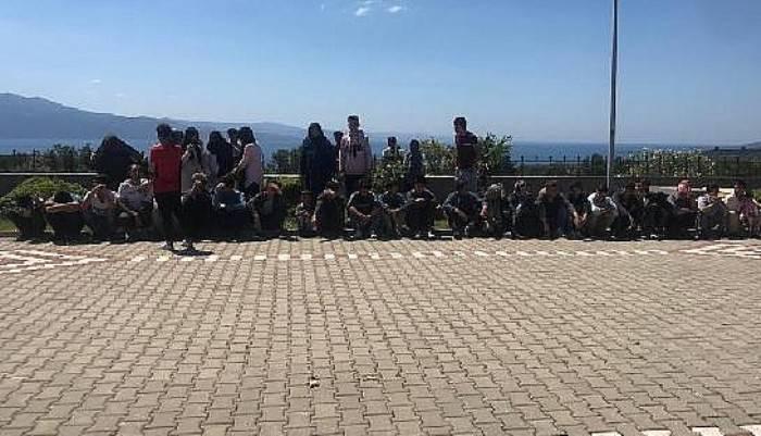 Çanakkale'de 201 kaçak yakalandı, 2 organizatör tutuklandı (VİDEO)