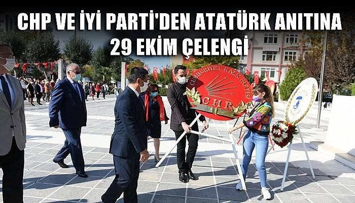 CHP ve İyi Parti'den Atatürk Anıtına 29 Ekim Çelengi