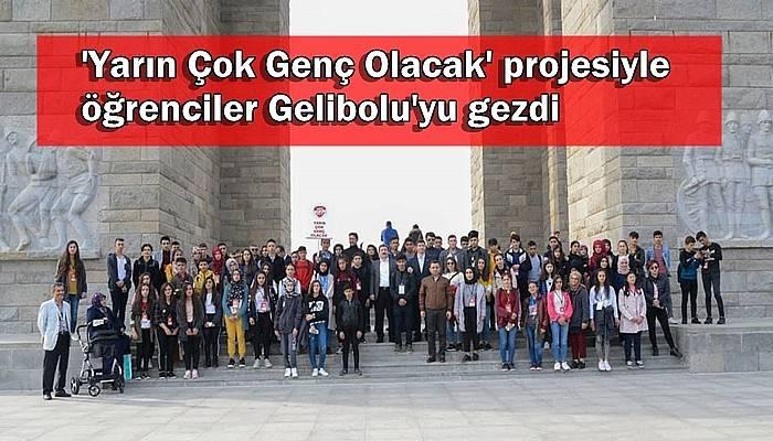 'Yarın Çok Genç Olacak' projesiyle öğrenciler Gelibolu'yu gezdi
