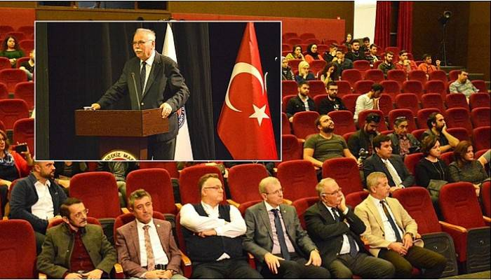 Dünya Şehircilik Günü kapsamında ÇOMÜ'de konferans verildi