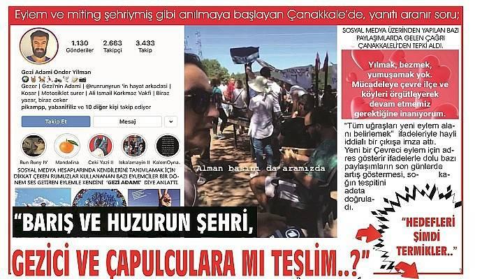 """""""BARIŞ VE HUZURUN ŞEHRİ, GEZİCİ VE ÇAPULCULARA MI TESLİM..?"""""""