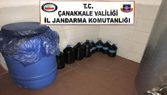 Çanakkale'de 5 bin 375 litre sahte şarap ele geçirildi