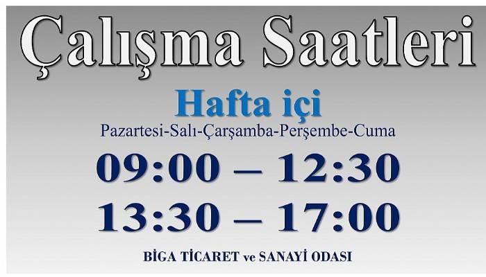 TSO'NUN ÇALIŞMA SAATLERİ DEĞİŞTİ!