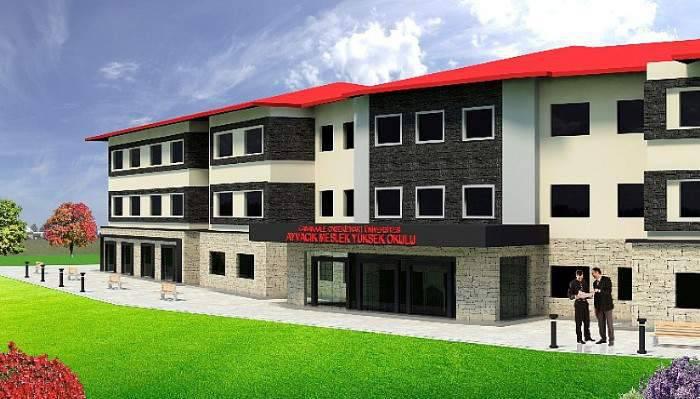 Ayvacık MYO'da Yeni Hizmet Binası Çalışmaları Devam Ediyor