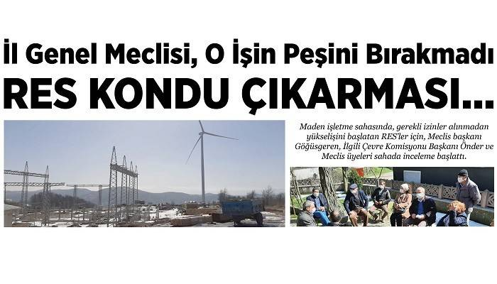 İl Genel Meclisi, O İşin Peşini bırakmadı: RES KONDU ÇIKARMASI...