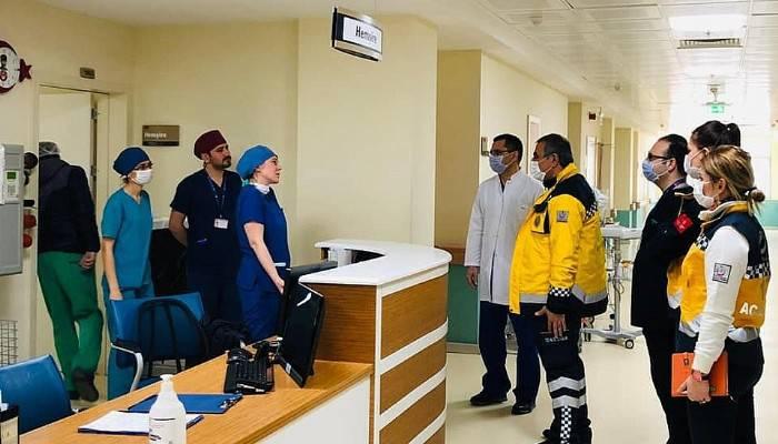 Sağlık Müdürü Taşçı, hastanelerdeki çalışmaları inceledi