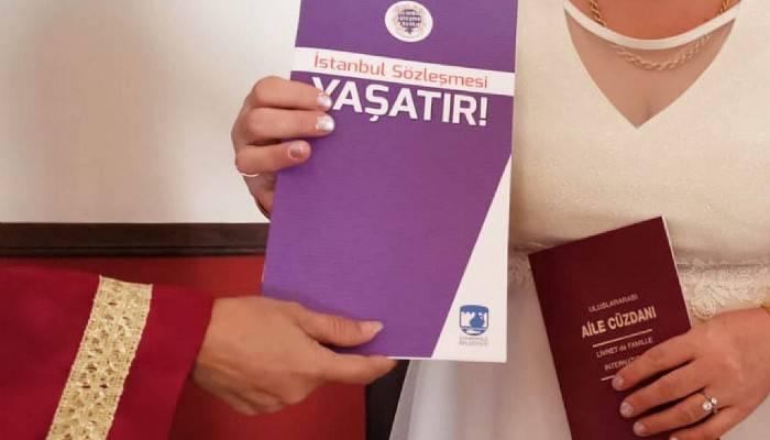 Yeni Evli Çiftlere İstanbul Sözleşmesinin Yer Aldığı Kitapçık Dağıtılacak