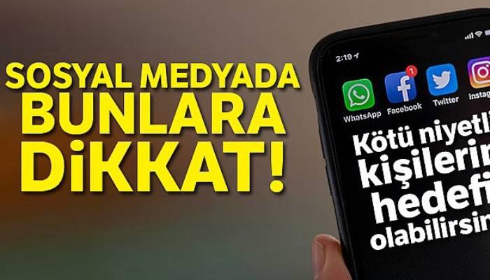 Sosyal medyada kişisel verileri paylaşırken dikkat