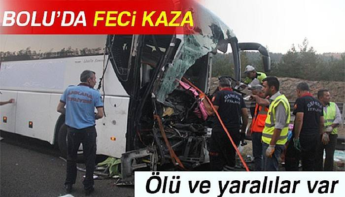 Yolcu otobüsü ile kamyon çarpıştı: 1 ölü, 21 yaralı