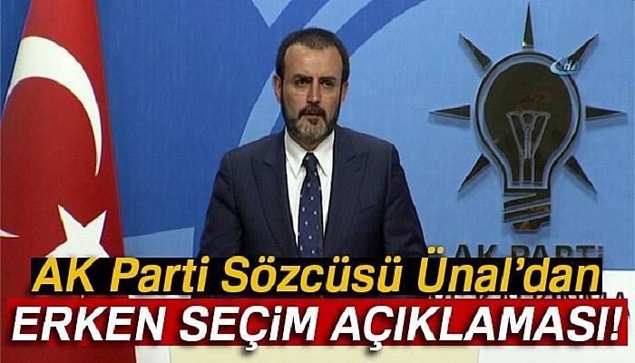 AK Parti Sözcüsü Ünal, Kılıçdaroğlu'nun 'erken seçim' açıklamalarını değerlendirdi