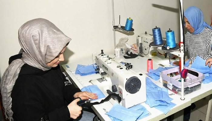 Maske Üretimine Lapseki SODEM'den Destek