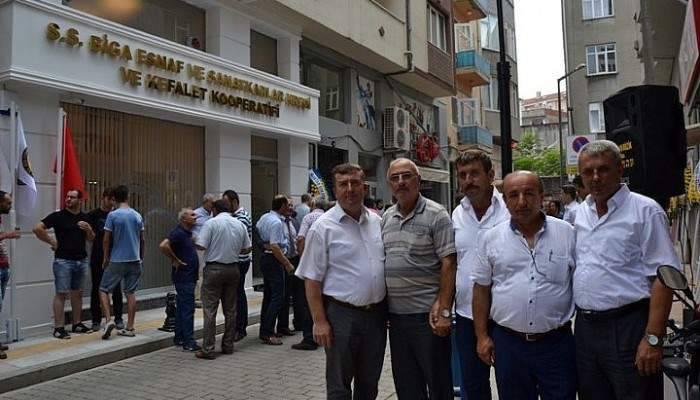 Biga Esnaf ve Sanatkarlar Kredi ve Kefalet Kooperatifi hizmet binası törenle hizmete girdi