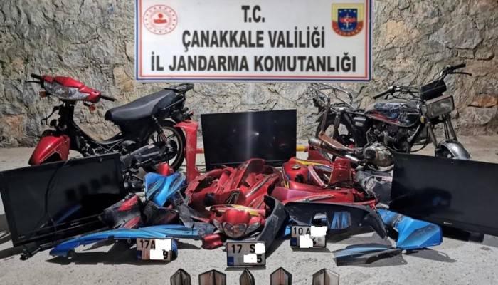 Çanakkale'de motosiklet hırsızlığı şüphelileri yakalandı