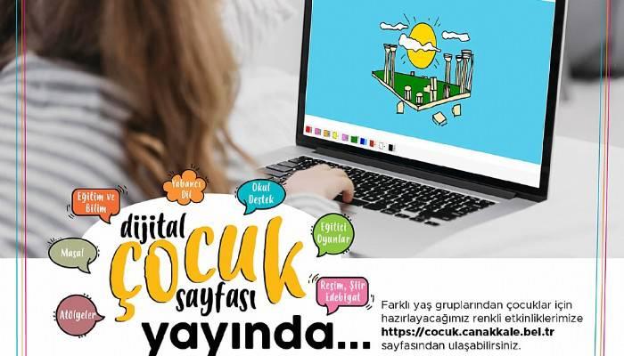 Dijital Çocuk Sayfası Yayında