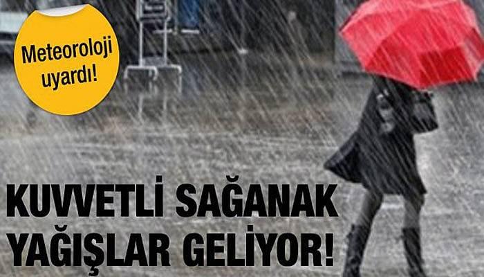 Çanakkale için kuvvetli yağış uyarısı