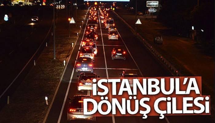 Çanakkale'den İstanbul'a dönüş trafiği!