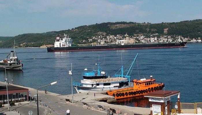 300 metrelik dev tanker Çanakkale Boğazı'nı kapattı (VİDEO)