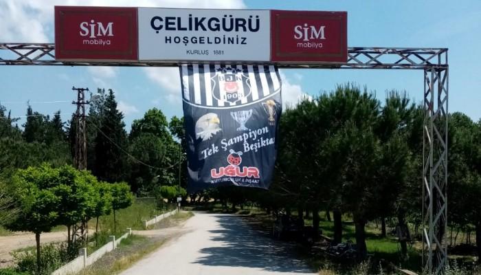 Şampiyon Beşiktaş'ın bayrağı köylerde dalgalanmaya başladı