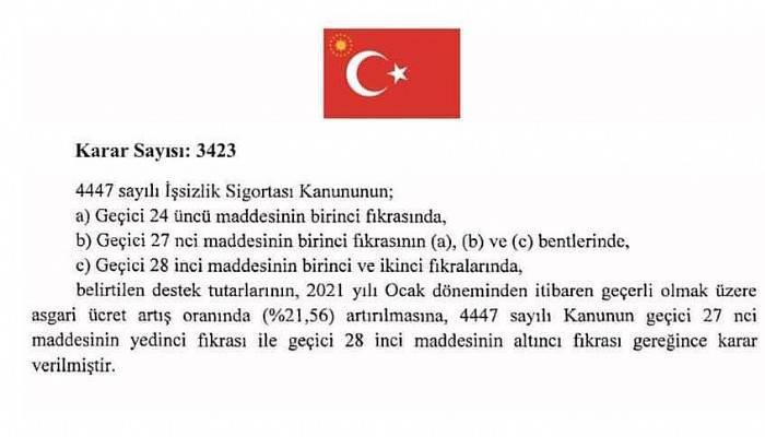 NAKDİ ÜCRET DESTEĞİ ZAMLANDI