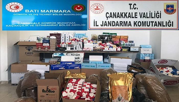Çanakkale'de kaçak tütün operasyonunda 2 gözaltı