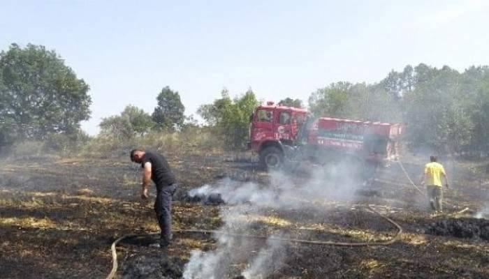 Biga'da Ot Yangını