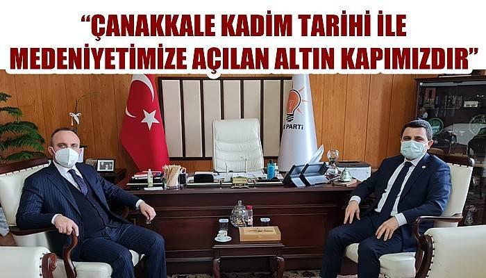 Çanakkale Savaşları Gelibolu Tarihi Alan Başkanı Kaşdemir'den, AK Partili Turan'a ziyaret